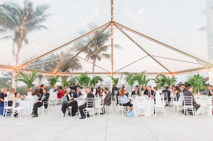 Clear, Modern Reception Tent