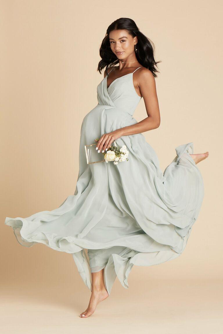 birdy grey dress pregnant bridesmaid