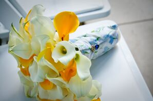 Ivory and Yellow Calla Lily Bouquet