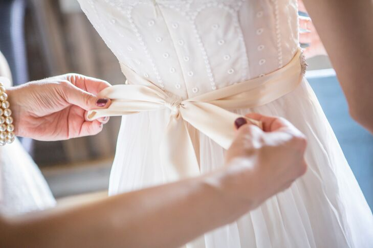 Champagne Bridal Sash