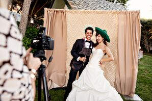 Bride and Groom in Photobooth