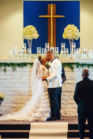Couple Shares First Kiss at Religious Church Ceremony