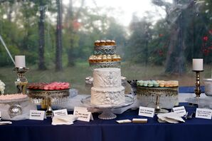 Art-Deco Cake and an Array of Desserts
