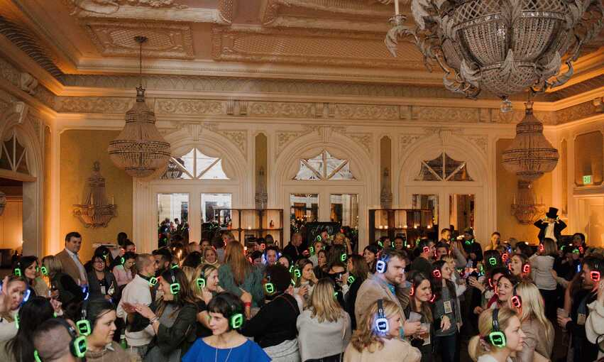 Silent Disco Speakeasy party themed inspiration and ideas