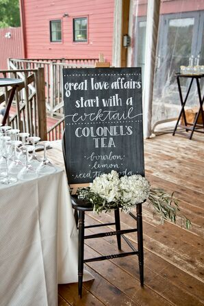 Whimsical Chalkboard Signature Cocktail Sign