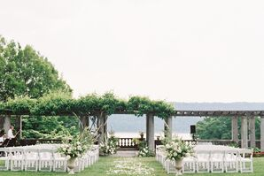 Elegant Waterfront Garden Ceremony