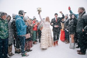 A Casual Winter Recessional at Jackson Hole Mountain Resort in Teton Village, Wyoming