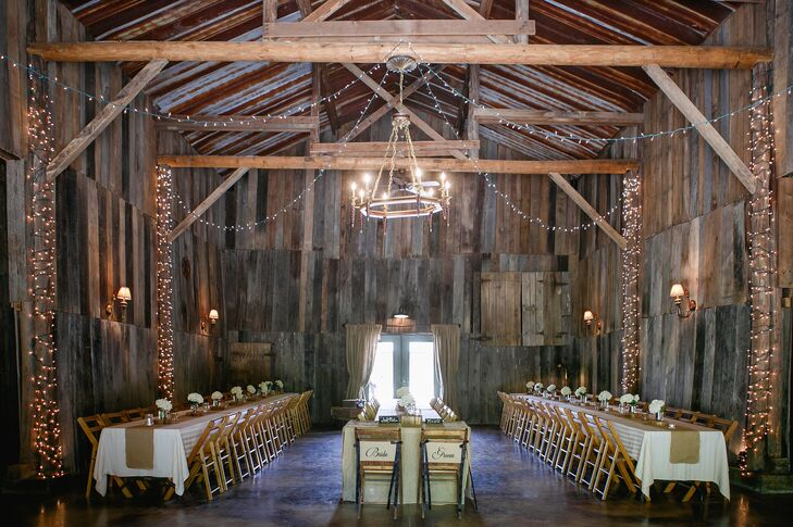 Rustic Barn Venue With String Lights