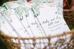 Botanical Paper Wedding Programs