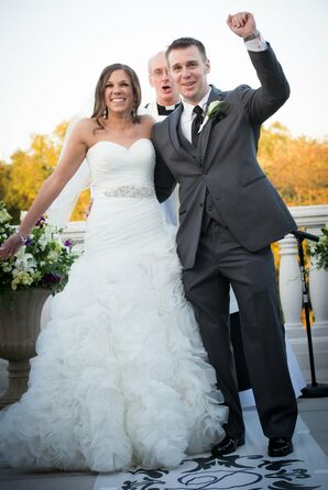 "Newlyweds Wave to Guests After Saying ""I Do!"""