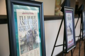 Framed Kentucky Derby Newspaper Clippings