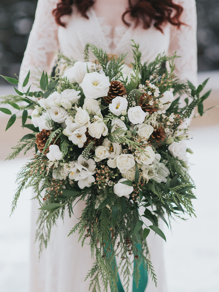 Lush Pinecone Winter Bouquet