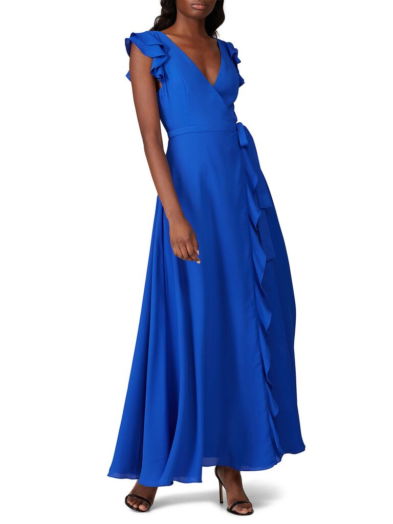 Blue rental bridesmaid dress under $100