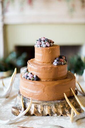 Caramel Groom's Cake