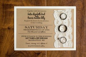 DIY Laser-Printed Lace and Kraft Paper Invitations