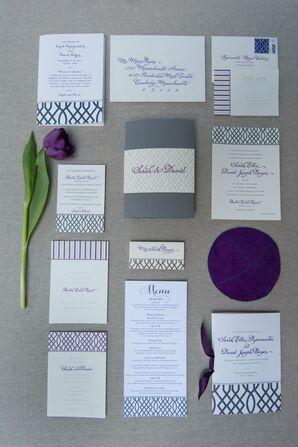 Purple Trellis Invitation Suite Design