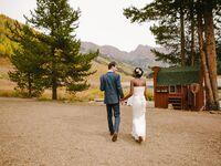 Fall wedding Colorado mountains