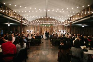 Intimate Evening Barn Ceremony