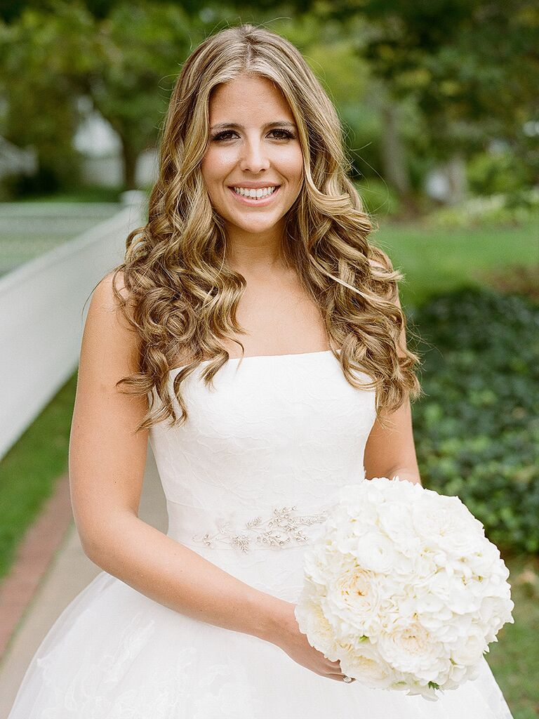 Long Wedding Hairstyle With Curly Hair