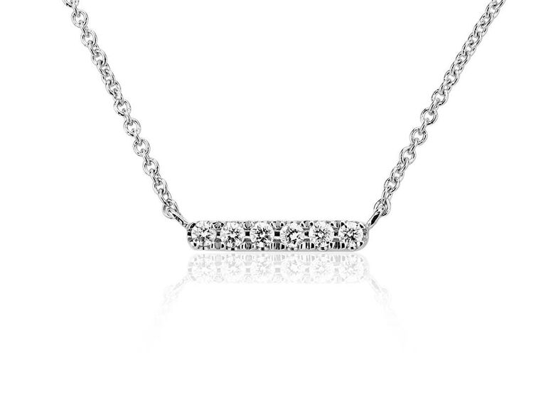 Diamond bar necklace 30-year anniversary present