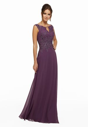 MGNY 72016 Purple Mother Of The Bride Dress