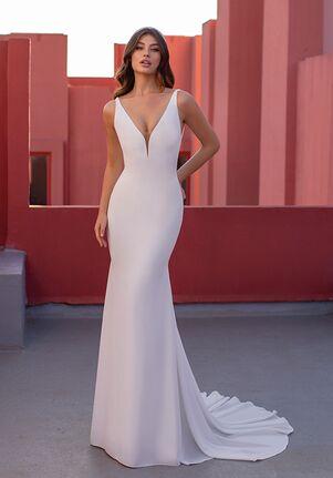 WHITE ONE ESSENTIALS AIKO Mermaid Wedding Dress