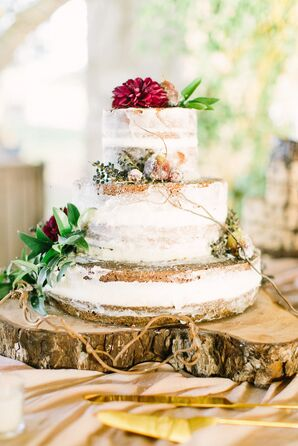 Three-Tier Nearly Naked Cake