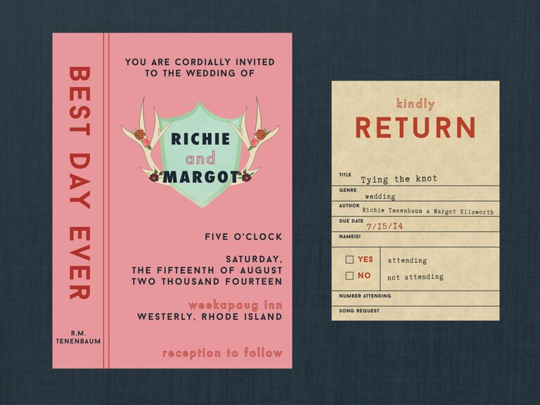 Margot and Richie wedding invitations