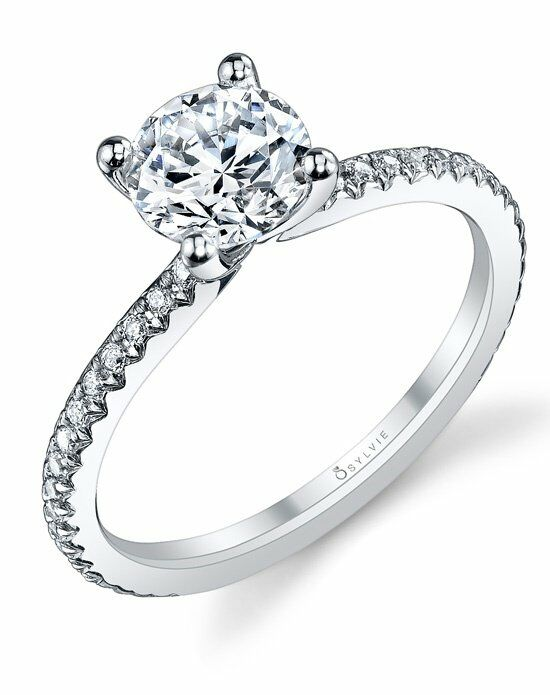 Sylvie collection s1093 wedding ring the knot for Wedding registry the knot