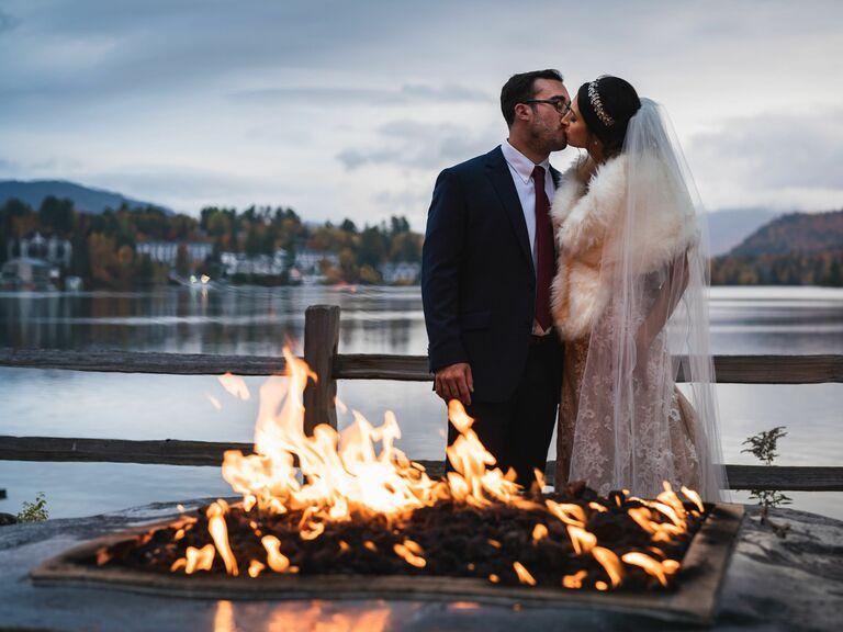 Winter wedding venue in Lake Placid, New York.