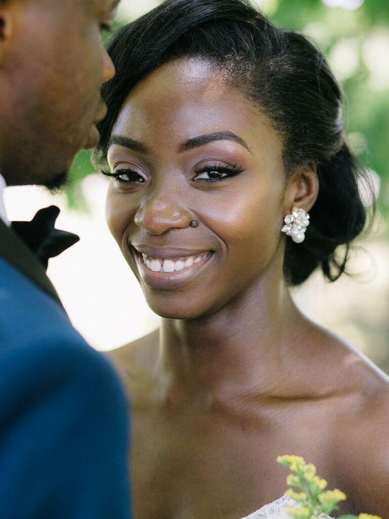 wedding eye makeup brown eyes purple eyeliner