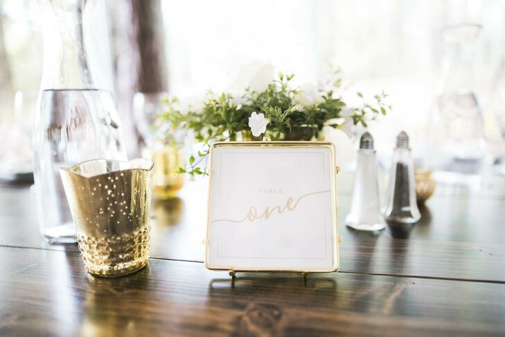 Table Number for Wedding at Dunaway Gardens in Newnan, Georgia