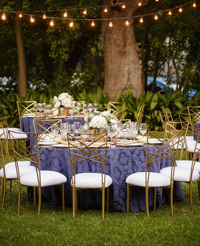 16 Ways To Dress Up Your Reception Tables With Pretty Patterns