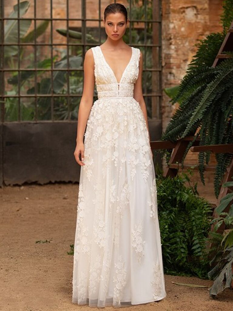 Zac Posen for White One lace A-line dress