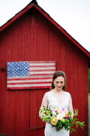 Wild Romantic Bridal Bouquet