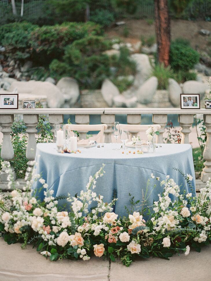 Romantic Sweetheart Table for California Wedding Reception