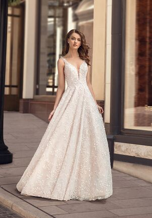 Moonlight Couture H1445 A-Line Wedding Dress