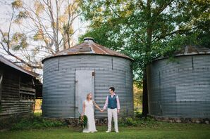 Bohemian Bride and Groom at Birdsong Nature Center