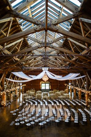 Glamorous Winter Barn Ceremony