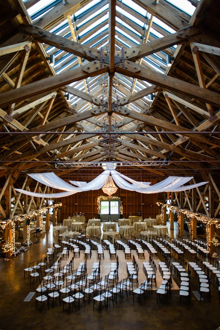 The Fair Barn was large enough to hold all 200 guests in one area in addition to the rest of the evening's events.