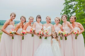 Soft Pink Chiffon Bridesmaid Dresses