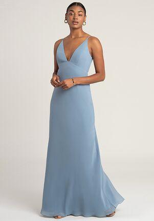 Jenny Yoo Collection (Maids) Jude V-Neck Bridesmaid Dress