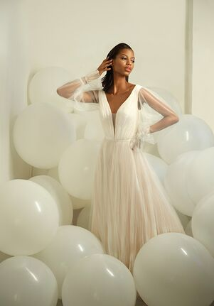 Michelle Roth for Kleinfeld Velvet Wedding Dress