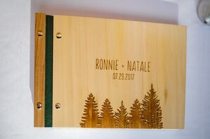 Engraved Wooden Guest Book