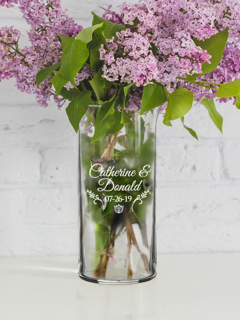 Floral vase fourth anniversary gift
