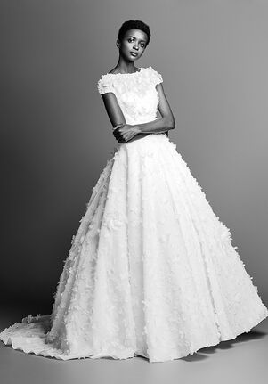 Viktor&Rolf Mariage VOLUMINOUS FLOWER APPLIQUÉ ORGANZA GOWN Ball Gown Wedding Dress