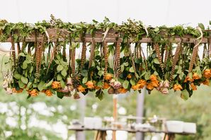 Rustic Hanging Flower Installation