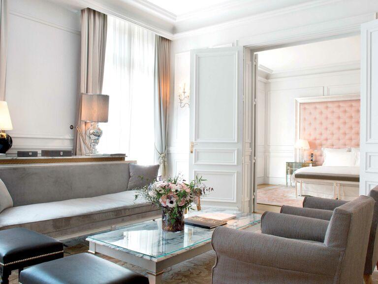 A suite room at the Royal Monceau in Paris