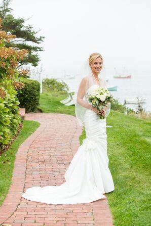 Strapless, Satin Mermaid Wedding Dress