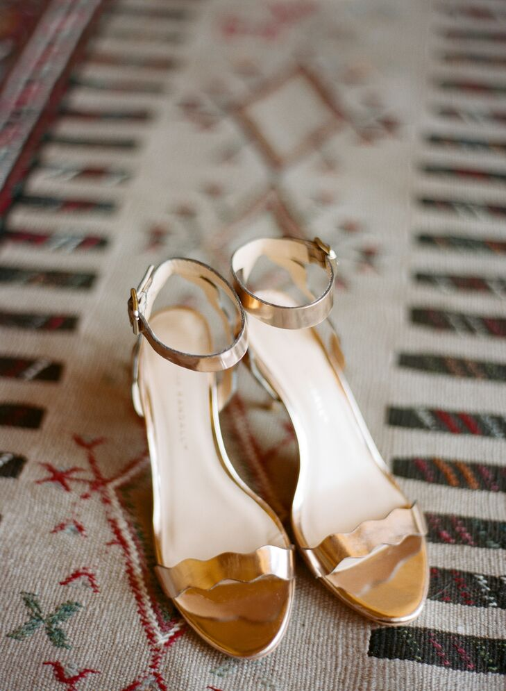 Nicole's rose gold Loeffler Randall sandals were glam, yet practical for mountain-side photos.